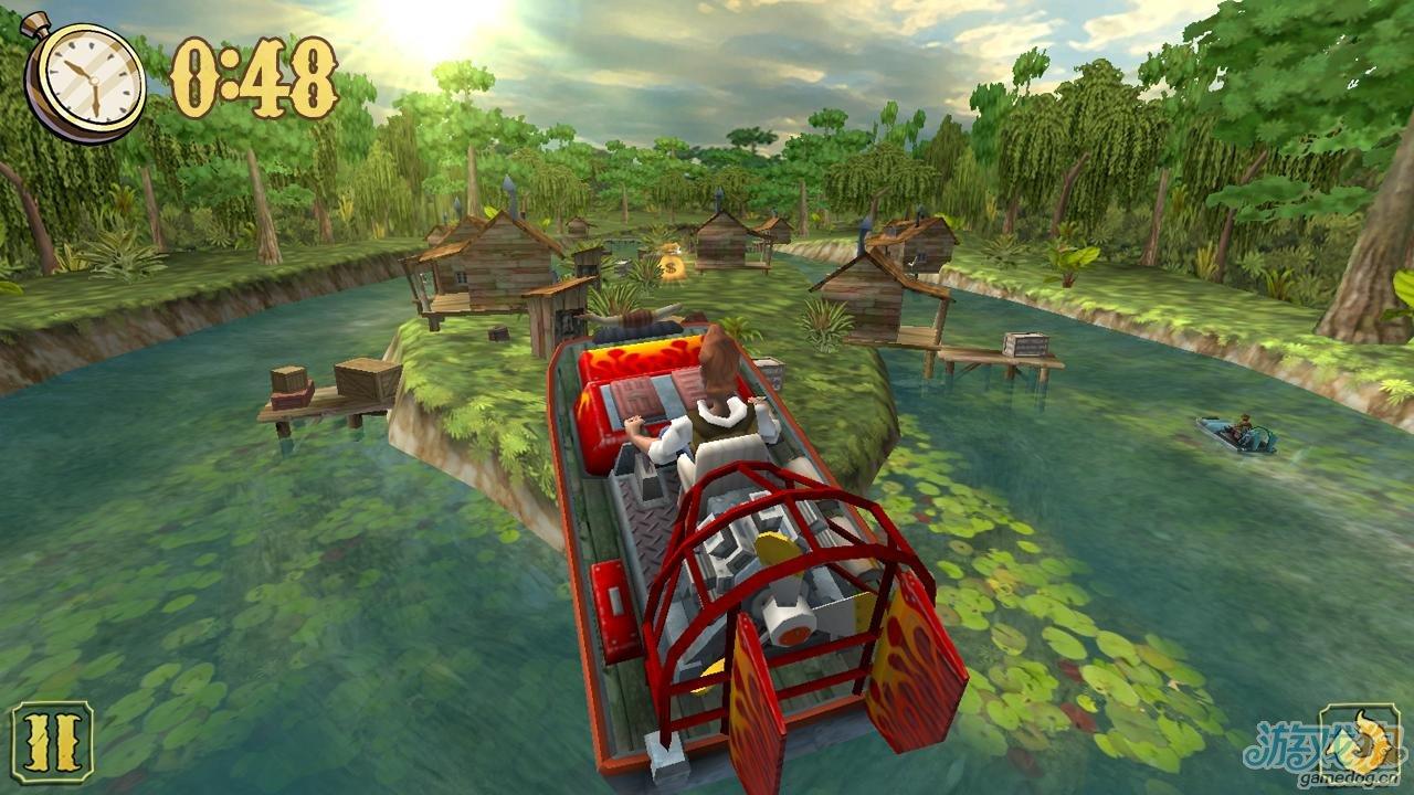 疯狂赛艇做一个走私船驾驶员在边境河流沼泽中穿梭