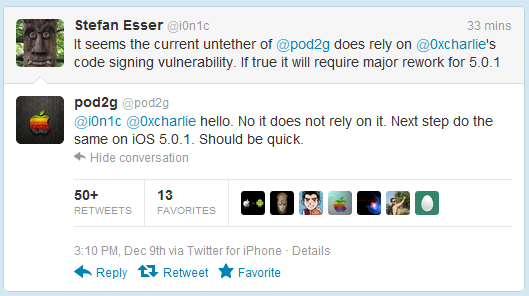 Chronic Dev 团队宣布iOS5 完美越狱