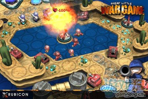 3D风格的回合制战棋游戏《小小大战争 高清版》