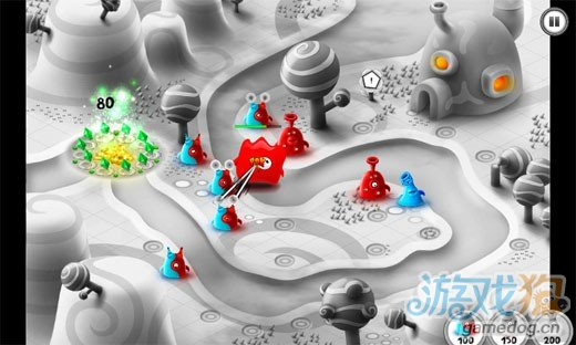 Android塔防类游戏《果冻防御》外星果冻大作战