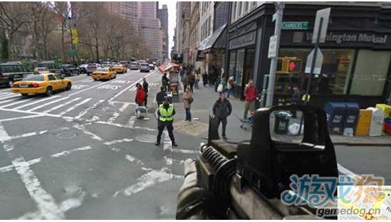 用谷歌街景打造最真实的FPS 端着M4A1扫街