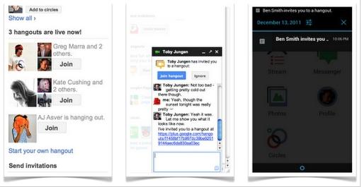Google+视频群聊功能Hangouts大改进 随时随地随聊