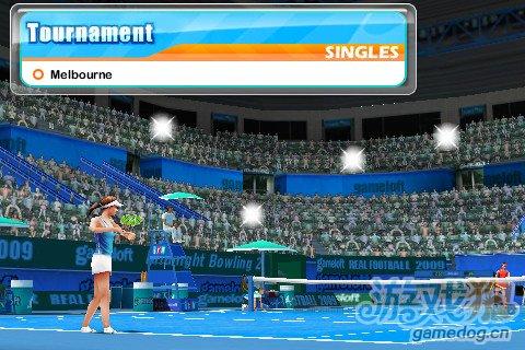 3D力作WIFI对战 iPhone免费游戏实况网球