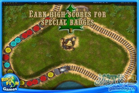 经典游戏祖玛的另类翻版《洛克火车:圣诞版》