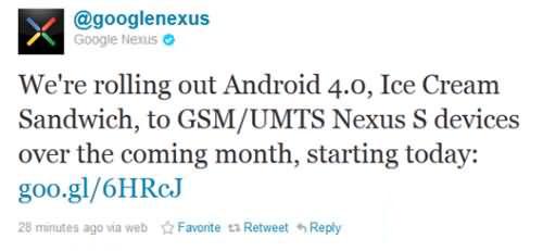 运行速度提升 Nexus S获Android4.0.3升级