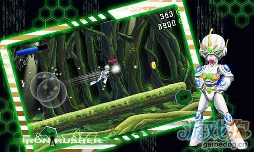 Android上红白机时代的经典动作游戏《钢铁拉什》