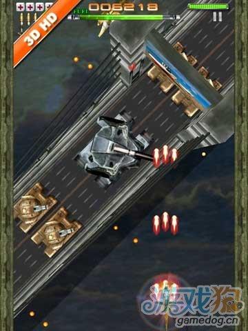 iPad空中3D射击飞行射击游戏《雷霆救兵》高清版