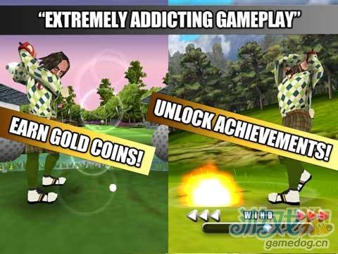 iOS平台近期推出的一款3D精美高尔夫之战游戏