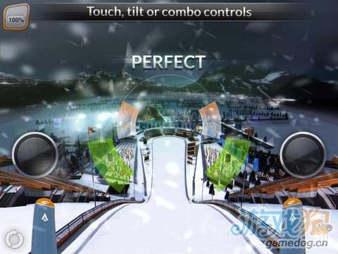 体验iPad滑雪体育运动3D游戏《高台滑雪2012》