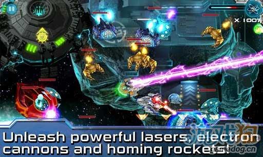Android飞行射击游戏《星空突袭》保卫星球和平