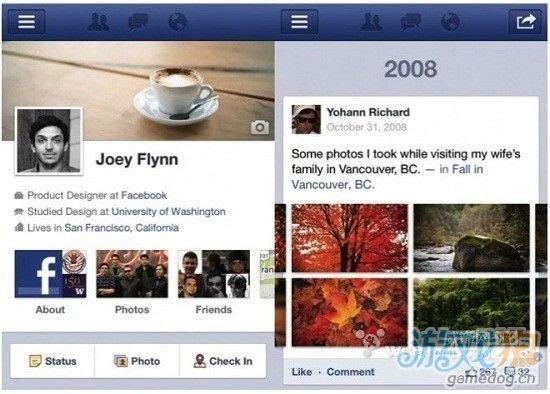 iPad版Facebook明年1月更新 添加Timeline功能