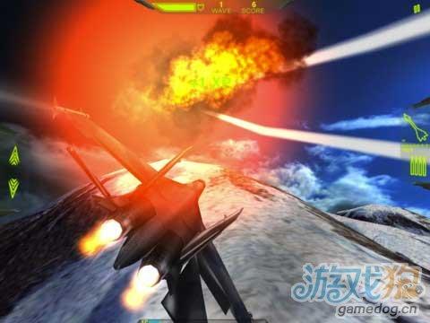 iOS多人喷气机对抗游戏《金属风暴:银翼战将》