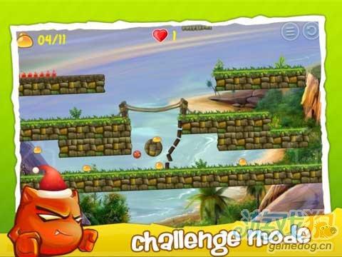 iOS经典游戏《红色小恶魔》一个古灵精怪的小红球
