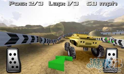 强悍的3D赛车游戏《山地越野车》来碾压围观群众了