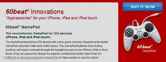 60beat为iOS设备推出GamePad游戏手柄