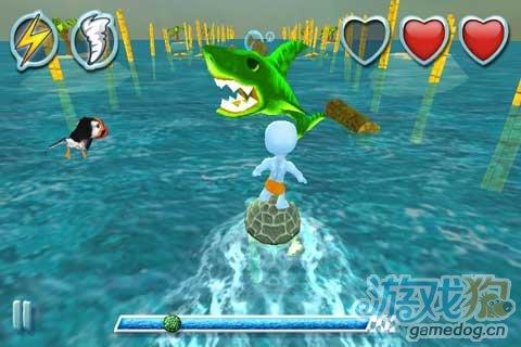 体验3D冲浪游戏《海龟冲浪》不是一般人不走寻常路