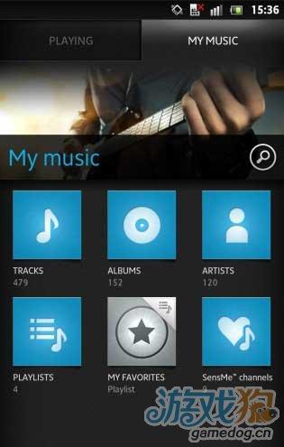 索爱Android 4.0全新音乐播放界面截图曝光