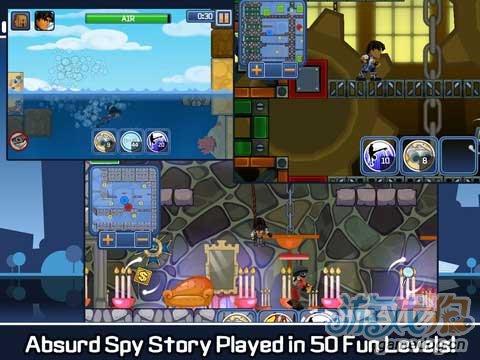 iOS动作游戏《间谍公司》3D人物2D背景的完美结合