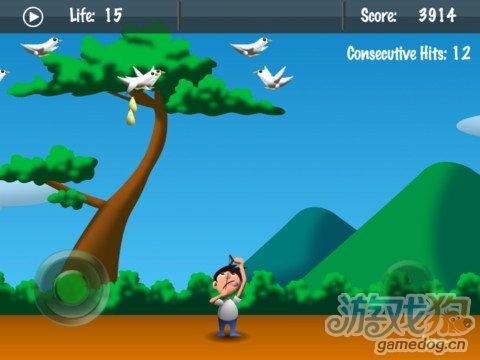 iPad射击游戏《杀死鸽子》别被鸽子大便砸中