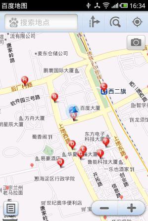 Android百度手机地图2.1 支持卫星图和3D模式