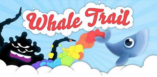 安卓奇幻休闲游戏《飞天鲸鱼 Whale Trail》
