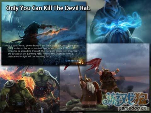 iPad魔幻文艺TD塔防游戏《矮人vs兽人》