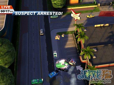 iOS动作竞速赛车累游戏《飙车战警》另类的一指流