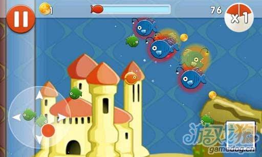 Android吞食休闲小游戏《小鱼成长记》可爱萌到爆