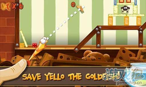 Android休闲游戏《拯救小飞鱼》帮助小鱼回到鱼缸