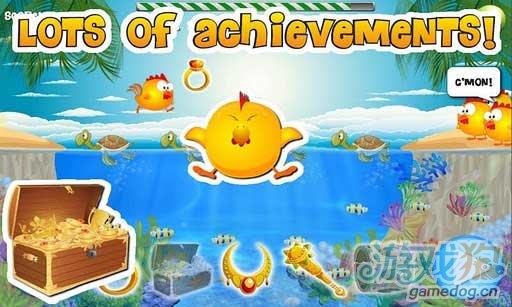 Android休闲游戏《小鸡和海龟》帮助小鸡穿越龟背