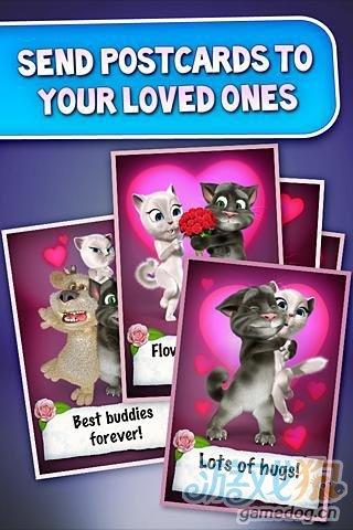 情人节Android游戏《汤姆猫的情书》恩爱网络红猫