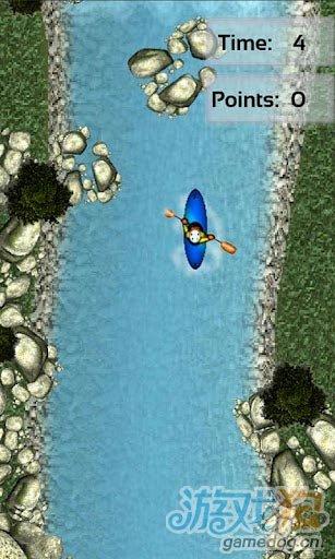 安卓平台重力感应控制游戏《激流皮划艇》躲避休闲