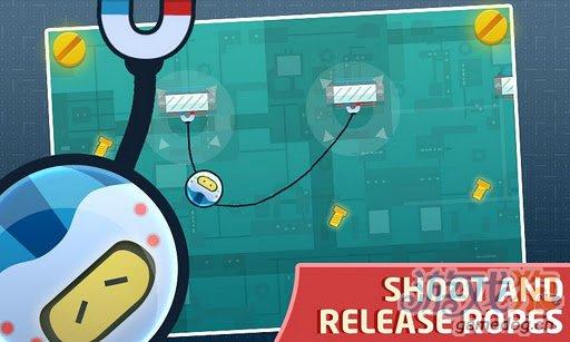 Android益智休闲游戏《机械绳》吃螺丝钉进行逃脱