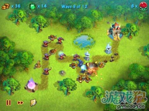 iOS魔兽风塔防游戏《城堡守卫战》抵御巨魔的入侵