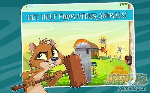安卓益智休闲游戏《飞天黄鼠狼》营救笼中的孩子们