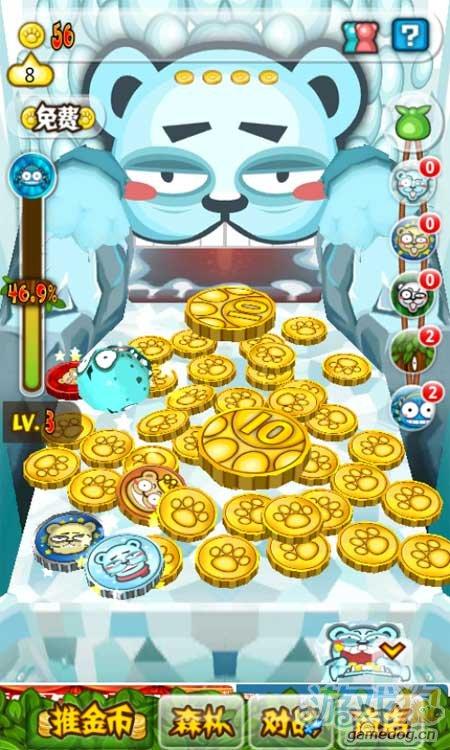 休闲赚钱小游戏《小熊推金币》Android版发布