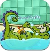 鳄鱼小顽皮爱洗澡-水