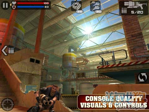 iOS射击游戏《前线特遣队》Glu免费大作