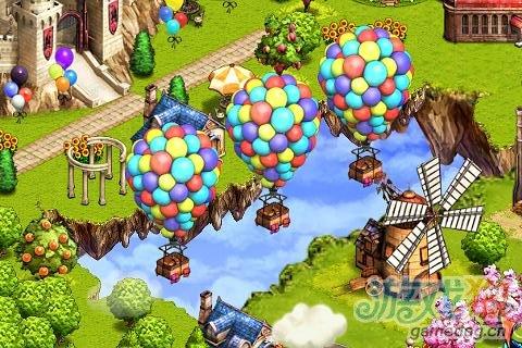 Android在线社交可爱卡通游戏《天空之城》