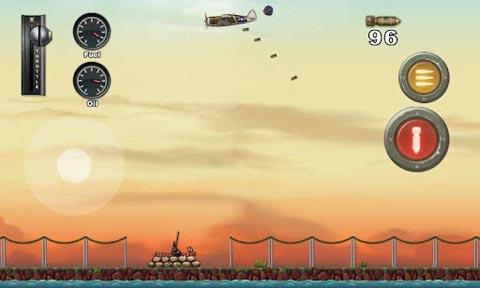 飞行射击游戏《愤怒之翼》摧毁日本战舰