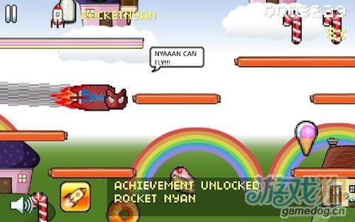 安卓爆红gif动画主题疾走休闲游戏《彩虹喵疾走》