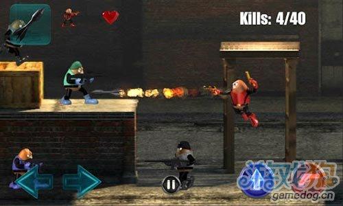 安卓射击游戏《豆子杀手》无情冷面杀手