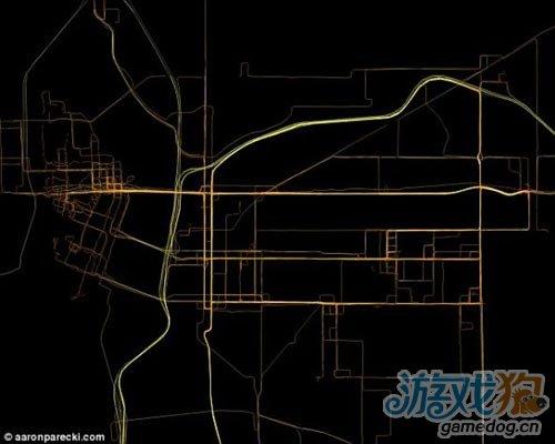 iPhone手机软件GPS追踪个人行踪已绘制成图