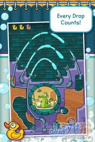 《鳄鱼小顽皮爱洗澡》(Where's My Water?)是一部基于物理原理的智益游戏,迪斯尼品质保证,并且是原生简体中文。这个好玩的新游戏的灵感来自一个都市故事,住在城市下面的鳄鱼Swampy希望过上人一样的生活,他尤其喜欢干净。对于鳄鱼Swampy的怪癖,其他鳄鱼并不认可,他们合谋破坏Swampy的水源供给。