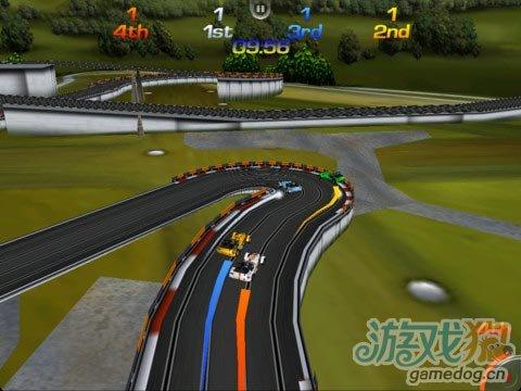 争当四驱小子iOS赛车游戏《插槽车竞速》免费下载