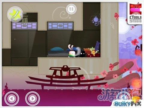 iOS动作冒险游戏《功夫兔子》飞檐走壁中
