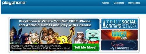 PlayPhone新技术支持跨移动平台进行多人玩游戏