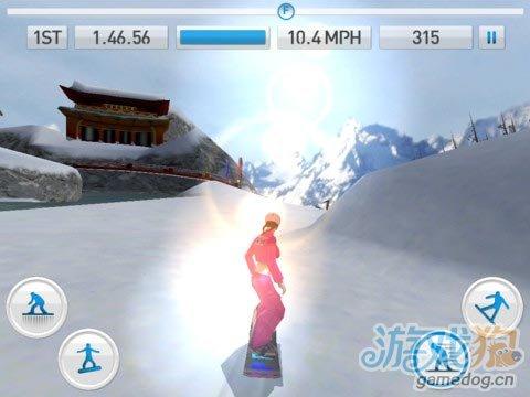 iOS体育竞速类游戏推荐《新式花样滑雪》
