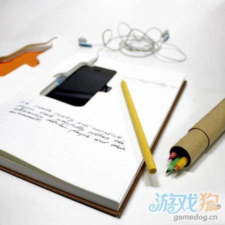开会也能玩iPhone手机 障眼法创意笔记本