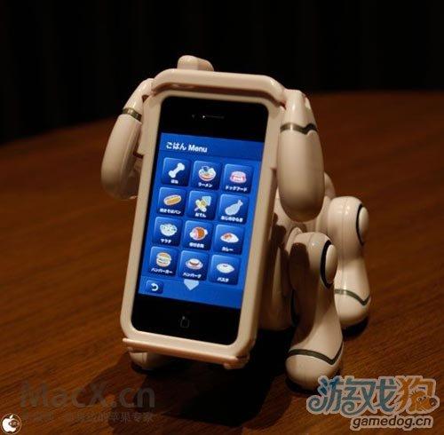 日本研发出使用iPhone手机当脸机器狗